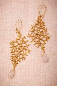 Glam up your beach wedding : Deep-Sea Drop Earrings
