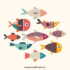 Colorful fishes collection with texture Free Vector Doodle Art, Abstract Illustration, Fish Vector, Inspiration Art, Fish Design, Colorful Fish, Fish Art, Art Drawings, Fish Drawings