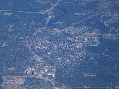 Ann Arbor from up in the air! Check out the BigHouse