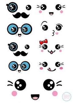 Resultado de imagem para desenhos de animais e pessoas com olhos kawaii