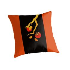 These paintings are inspired by block prints of a former Japanese kamikaze pilot.  Persimmons can be found in Asian and Native American folklore. • Also buy this artwork on home decor, apparel, phone cases, and more.