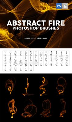 45 Abstract Fire Photoshop Stamp Brushes 5 Logo, Pixel Size, Photoshop Brushes, Fire, Stamp, Templates, Abstract, Lost, Magazine