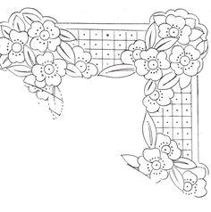 riscos de flores para bordar - Buscar con Google