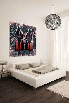 Red Bottoms Canvas Wall Art by The Ultravelvet Collection on @HauteLook