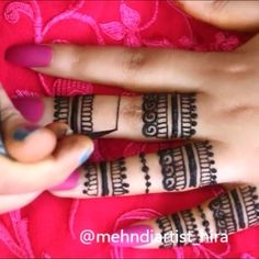 Video finger henna design Please excuse my head 🤦🏻‍♀️ Finger Henna Designs, Mehendi, Hand Henna, Class Ring, Tattoos, Inspiration, Instagram, Biblical Inspiration, Tatuajes