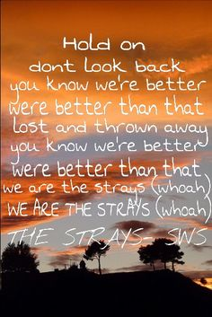 The strays-- Sleeping with sirens. I love this song- along with Madness. Really good songs for you if you need upliftment (if that's a word)
