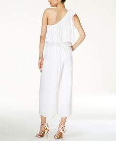 Guess Marino One-Shoulder Jumpsuit - White XL