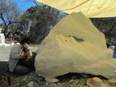 kathy Munguia, proceso de talla, 2012