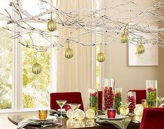 Dangling Christmas balls