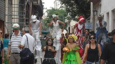 Street performers in Old Havana, Cuba, Nov. 2013