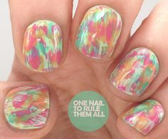 One Nail To Rule Them All: 'Dry Brush' Nail Art