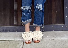 Zara Moroccan Inspired SLides- How to Re-Wear Your Favorite Spring Event Dress Using Your Favorite Pair of Jeans - BloggerNotBillionaire.com