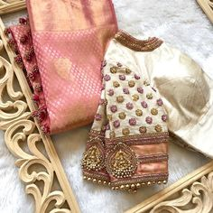 Saree Blouse Designs: Latest & Evergreen collections of 2019 - serme Wedding Saree Blouse Designs, Pattu Saree Blouse Designs, Fancy Blouse Designs, Blouse Neck Designs, Wedding Sarees, Blouse Patterns, Wedding Blouses, Bridal Lehenga, Lehenga Choli