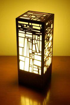 Terra Lasercut Lamp by Foxworth Architecture PLLC Luxury Lighting, Cool Lighting, Lighting Design, Mood Light, Lamp Light, Japanese Lighting, Zen Furniture, Laser Cut Lamps, Motif Art Deco