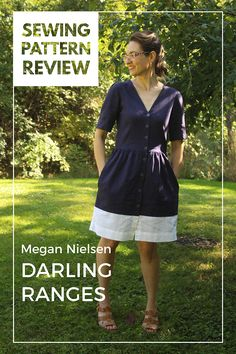 The Darling Ranges shirt dress, a Megan Nielsen sewing pattern, has three variations - a shirt dress with a gathered waist, a tunic-style dress, and a shirt. It's a fun sew that definitely could become a wardrobe staple! I chose to color-block my shirt dress for visual interest.