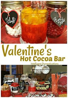 Ideas for setting up your own Valentine's Hot Cocoa Bar. Enjoy the winter season with a warm and welcoming Hot Coffee Bar which can double as a Valentine's Hot Cocoa Bar in February. See out toppings and what we serve on our coffee corner. Valentines Day Food, Valentines For Kids, Valentine's Cards For Kids, Hot Cocoa Bar, One Dish Dinners, Valentine Activities, Valentine's Day Printables, Healthy Smoothies, Healthy Detox