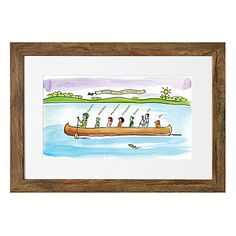 Look what I found at UncommonGoods: Personalized Family Canoe Art for $75.00 - 125.00