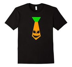 Scary Pumpkin Halloween Tie Shirt