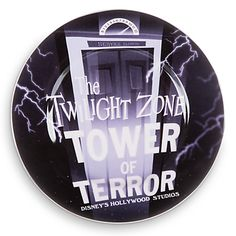Disney Parks Attraction Art Plate - The Twilight Zone: Tower of Terror - 7'' | Disney Store