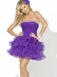 A-line Purple Organza Short Prom Dress /Cocktail Dress/Homecoming dress BL-001