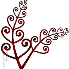 Maori Art - NZ Silver Fern - Maori design fern or koru design. Like the simplicity - Koru Tattoo, Maori Tattoos, Maori Symbols, Maori Patterns, Jagua Henna, Polynesian Art, Polynesian Tattoos, Maori People, Silver Fern