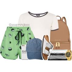 A fashion look from July 2015 featuring Topshop t-shirts, MINKPINK shorts and Birkenstock sandals. Browse and shop related looks.