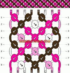 Normal Friendship Bracelet Pattern #1366 - BraceletBook.com
