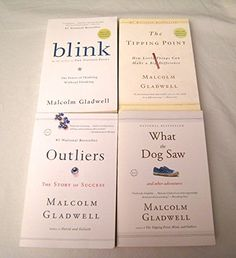 Malcolm Gladwell 4 Book Set: Blink Tipping Point Outliers What the Dog Saw