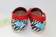 Custom Toms with zebra heels for info email me at dsdeverx@hotmail.com or check out my etsy shop at www.tresfancy.etsy.com