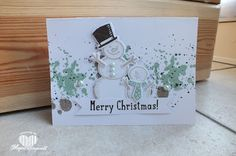 Magical Scrapworld: Stampin' Up!, Christmas card, gorgeous grunge, snow place