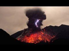 Rare Footage Of Volcanic Lightning - YouTube