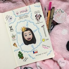 #bulletjournal #diary #illustration #stickers #pizza #tea #aboutme #disney #mickeymouse #minniemouse #czech #pink #gemini #summer #stabilo #leuchtturm1917 #leuchturm #plants #adidassuperstar #zivotgrafika #princess #kristyna #mina #minagraphicdesign #graphicart #diaryinspiration