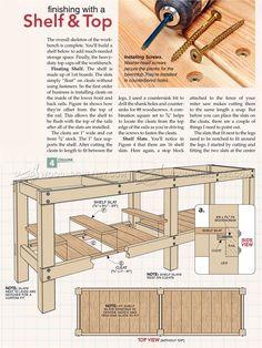 #2381 Heavy Duty Workbench Plans - Workshop Solutions