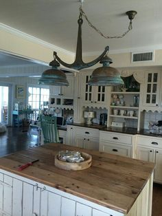 Anchor hanging lamp in kitchen <3