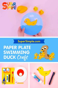 Quack! Quack! Make a cute swimming duck craft for spring using some paper plates!