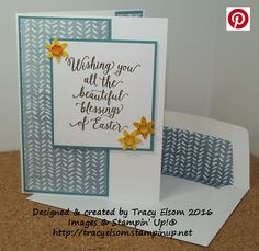 Easter card created using the Suite Sayings Stamp Set from the Stampin' Up! 2016 Occasions Catalogue.  http://tracyelsom.stampinup.net