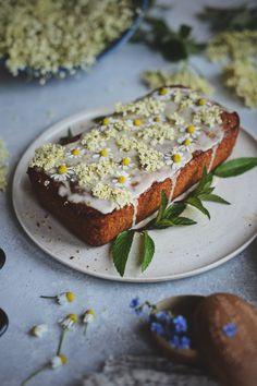 Wild Elderflower Honey Lemon Drizzle Cake - Vegan Friendly
