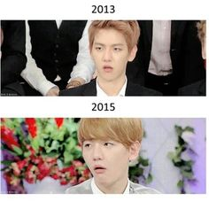 """Some things never change... Baekhyun """"no way""""-face is one ^^"""
