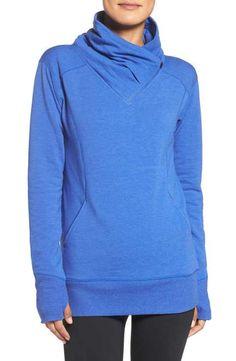 Zella 'Frosty' Asymmetrical Zip Pullover