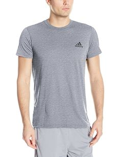 29e0052b adidas Men's Training Ultimate Short Sleeve Tee, Medium Grey Heather, Large