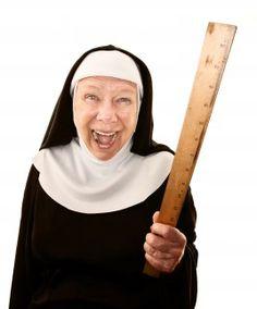 Laughing nun.