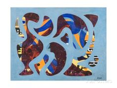size: Giclee Print: Intermingling, 1972 by Eileen Agar : Frame My Photo, Framed Artwork, Wall Art, Cool Posters, Abstract Pattern, Prints For Sale, Custom Framing, Find Art, Giclee Print