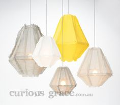 Enoki Cumulus -Pendant Light Soft Grey/Yellow for the bedroom available at coo White Pendant Light, Led Pendant Lights, Pendant Lighting, Pendant Lamps, Pendants, Lighting Online, Home Lighting, Lighting Design, Lighting Ideas