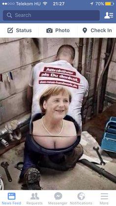 Merkel with cleavage