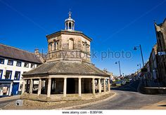 Old Market Cross in Barnard Castle, County Durham, England, UK - Stock Image