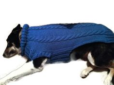 Cable dog sweater - Larger Big Dog Breed hand knit warm winter pullover pet puppy Coat Clothing - Made to Measure