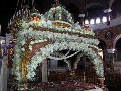 Orthodox Christianity, Jesus Christ, Flower Arrangements, Christmas Tree, Holiday Decor, Flowers, Floral Arrangements, Flower Arrangement, Teal Christmas Tree