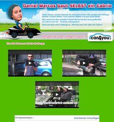 car4you GmbH || Konzept, Design, Programmierung Cabrio Selbstbau || Kommentarfunktion für Usertipps Challenge, Facebook, Movie Posters, Movies, Design, Short Skirts, Convertible, Concept, Tips