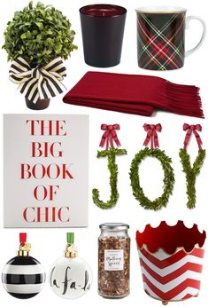 Topiary // Candle // Mug // Throw // Book Wreath // Ornaments // Spices // Cachepot One of my...