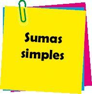 matematicas niños sumas simples actividades